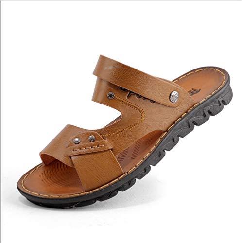 Antideslizantes Aire Color tamaño Cuero Sandalias De Al Libre Sandalias Zapatos De Deportes Verano EU Los 40 Amarillo Amarillo Wangcui con De 7qwZ04