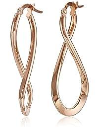 14k Rose Gold Italian Infinity Drop Earrings