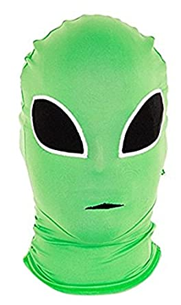 Morphsuits Morphmask Premium Alien, Green/Black, One Size