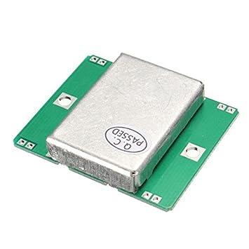 Rosa Lagarto HB100 Sensor Module 10.525 gHz Doppler Radar Detector de movimiento 40 mA para Arduino