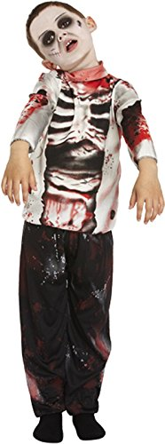 ZOMBIE BOY WALKING DEAD HALLOWEEN FANCY DRESS COSTUME OUTIFT Age 10-12 - Walking Dead Costumes For Kids