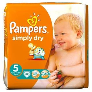 Pampers Simply Dry taille 5 (11-25 kg) Junior X 32 par lot