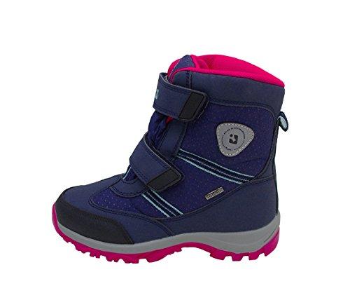 Killtec Unisex-Kinder Bjarki Jr Schneestiefel Blau (dunkelnavy/ Neon Pink/ Light Turquoise)