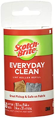 Scotch-Brite Lint Roller Refill, 60 Sheets, Replacement for Refillable Lint Brush