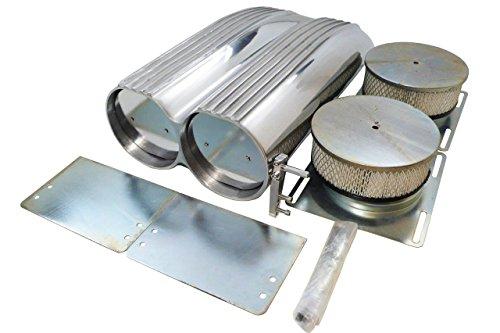 - Motornets Polish Aluminum Fin Shotgun Intake Air Hood Scoop Single/Dual Bug Catcher Blower