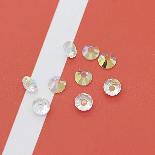 Shoppy Star SS3-SS30 Transparent AB Unfoiled Flatback Non Hotfix Glass Rhinestones Nail Art Table Confetti Decoration Wedding Party Crystals: ss10 144pcs