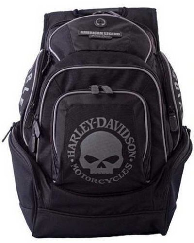 Harley Davidson Mens Skull Backpack BP1924S BLACK