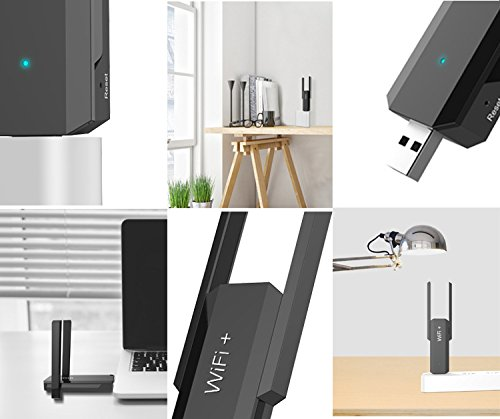 300Mbps USB Wireless Repeater KuWFi Smart WiFi Range Extender High Gain 2.4GHz 300Mbps USB Range Extender Extender Amplifier Signal Booster Works With any WI-FI router by KuWFi (Image #4)