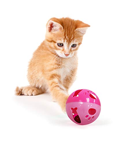 - Pets First Large Size Cat Ball with Bell Toy for Cats Kittens and Other Animals - Hours of Play for Pets | Large Size for Extra Fun | Rings As It Moves