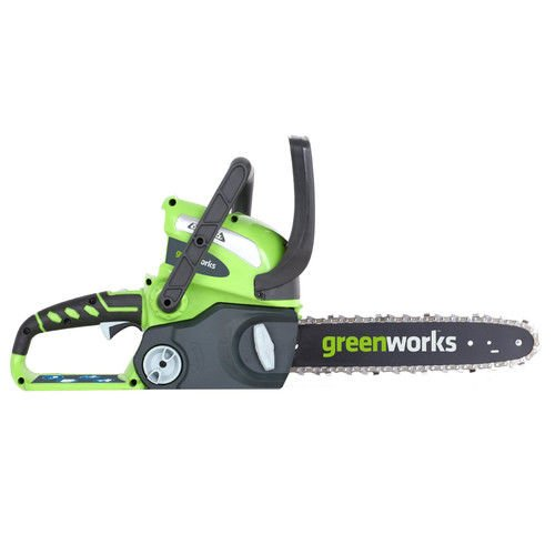 Greenworks 20292 12-Inch 40V Cordless Chainsaw, Battery Not Included