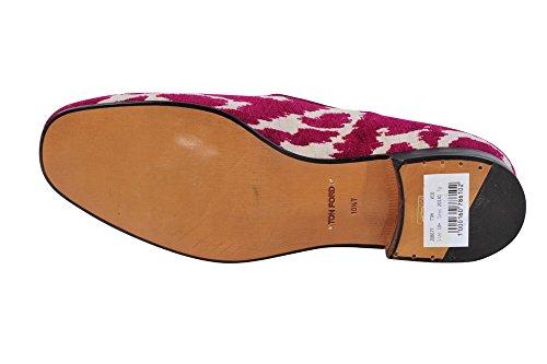 Tom Ford Schuhe Herren Veilchen Weiß Leder Mokassins 44.5