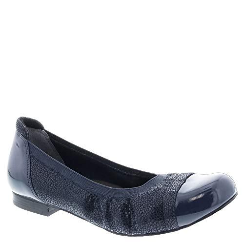 Ros Hommerson Ronnie 62029 Women's Dress Shoe: Navy/Crackle 12 X-Wide (2E) Slip-On