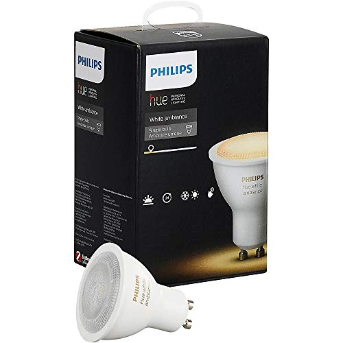 Philips Hue White Ambiance GU10 Wi-Fi Smart LED Bulb White 464677