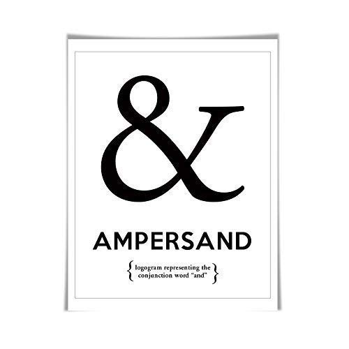 Amazoncom Ampersand Punctuation Print 60 Colours5 Sizes Grammar