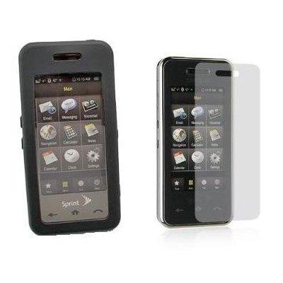 ne Soft Rubber Case Cover + Custom LCD Screen Protector for Sprint Samsung Instinct M800 ()