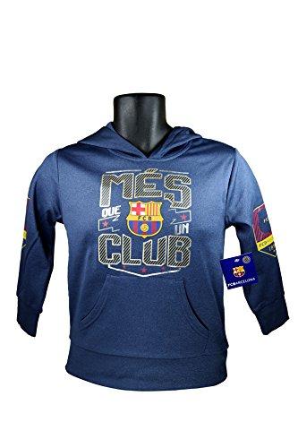 Soccer Ball Fleece Beanie - FC Barcelona Messi 10 Fleece Jacket Sweatshirt Official Soccer Youth Hoodie YS 009