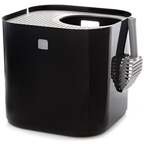 Modkat Litter Box, Top-Entry, Looks Great, Reduces Litter Tracking, Includes Scoop and Reusable Liner