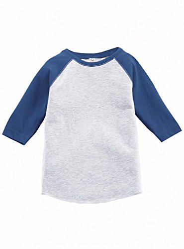 Royal Blue Heather (Rabbit Skins 100% Cotton Blank Toddler Baseball Jersey Tee [Size 4T] Vintage Heather Gray/ Vintage Royal Blue Short Sleeve T-Shirt)
