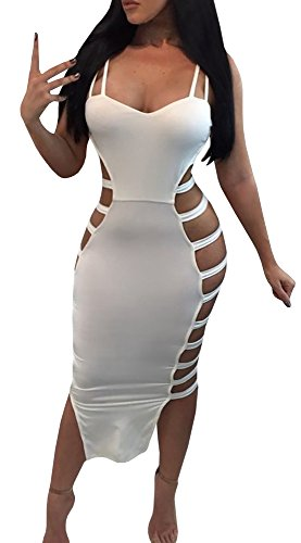 Hollow Strap White Backless Out Bandage YOMISOY Maxi Women Summer Sexy Long Solid Spaghetti Dress Outfits tqx8FUSw