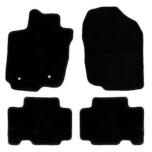 FH Group FM910BLACK Full Set-Black Carpet Floor Mats Custom Fit (for Toyota RAV4 ()