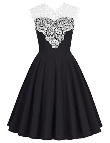 Womens Sleeveless Floral Vintage Dresses