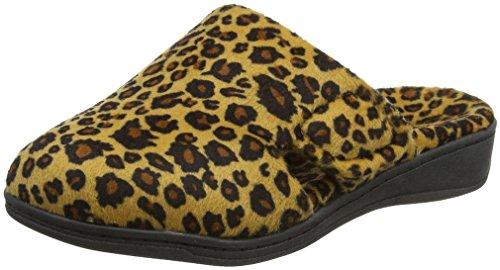 Vionic Verwöhnen Gemma Frauen Round Toe Slipper Tan Leopard