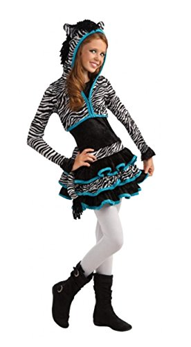 Faerynicethings Drama Queen Zebra with Blue Trim Girls Tween Costume (Small)]()