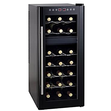 Sunpentown WC-2192DH Dual-Zone Thermo-Electric Wine Cooler with Heating, 21-Bottles