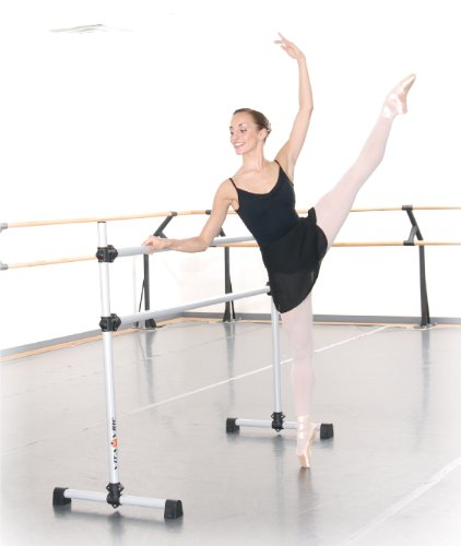 Vita Vibe BD96 Prodigy Series Portable Double Freestanding Ballet Barre, Stretch/Dance Bar, 8-Feet