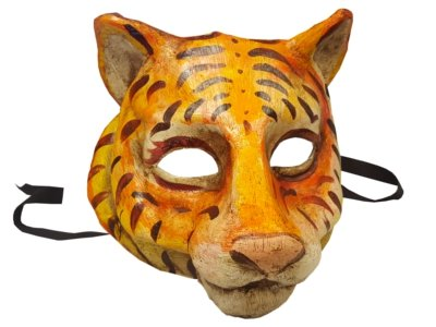 - Sensational Unique Tiger Tigress Animal Venetian Full Face Masquerade Mask