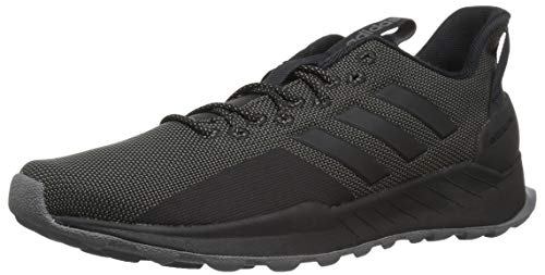 adidas Men's Questar Trail Running Shoe, Black/Grey, 12 M US