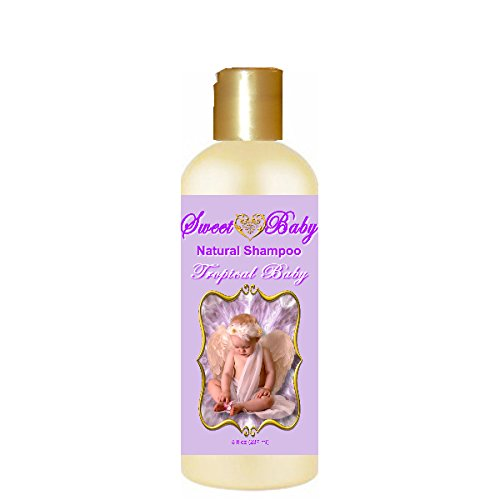 Sweet Baby Shampoo, 8 oz., Sulfate Free, No Parabens, Phthalates, Dyes, Endocrine Disruptors, SLS Free, Natural (Tropical Baby)