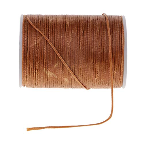 Canvas Sewing Thread 0.8mm Flat for Leather Sewing Stitching Cord Craft Tool | Color - Coffee 3