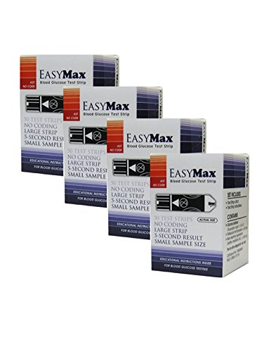 EasyMax Test Strips 200 count- 4 boxes of 50