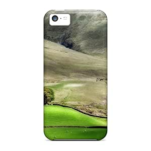 New Style Tpu 5c Protective Case Cover/ Iphone Case - Fields In The Valley