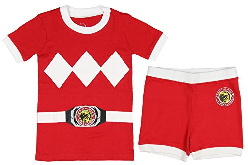 Intimo Power Rangers Toddler Character Cotton Pajamas (Red, 4T)