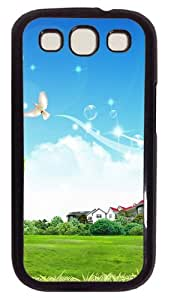 Photoshop Landscape House PC Case Cover For Samsung Galaxy S3 SIII I9300 Black