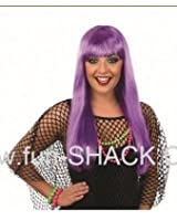 Hot Purple Fringe Wig accessory Costume