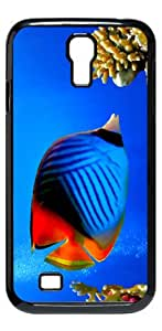 Tropical Fish Colorful HD image case for Samsung Galaxy S4 I9500 black + Card Sticker