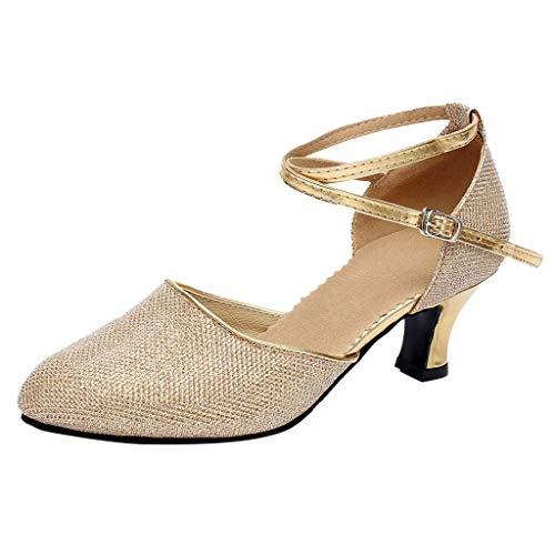 Salsa Lentejuelas Gold Zapato Zapatos Tango Mujer Sandalias Logobeing 2019 Latino Verano Social Baile De Para tFzzqg