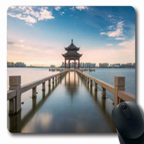 Mousepads Lake China Jiangsu Suzhou Jinji Cooperation Scenery Parks Outdoor Golden Oblong Gaming Mouse Pad Non-Slip Rubber - Jiangsu Suzhou China