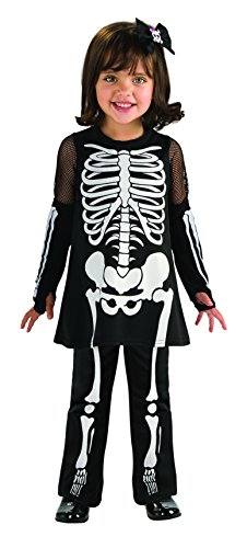Cute And Scary Halloween Costumes (Rubie's Cute As You Can Be Skeleton Girl Toddler Costume - Toddler (1-2 Years))