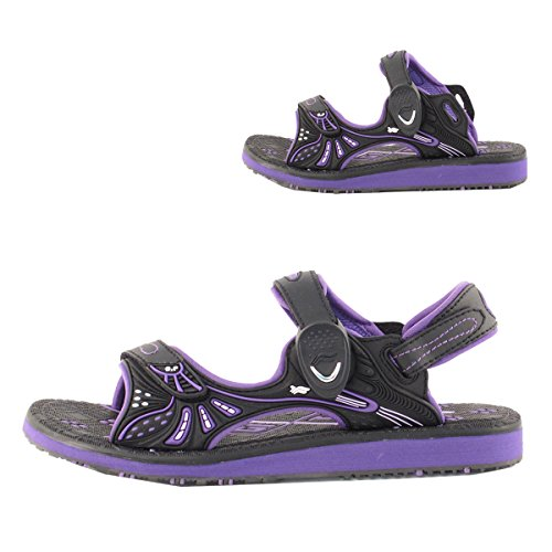 Black Easy Gold Pigeon Lock Closure Snap Sports Durable With Women For Outdoor 7684 Water Purple GP9149 Sandal Kids Shoes Men qzdArxqwU