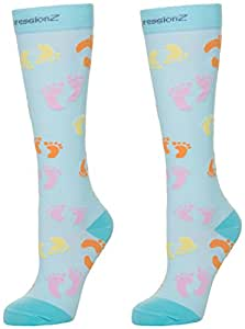 Fun Compression Socks for Women & Men + Crazy Funky Patterns - Graduated Compression (20-30 mmHg) for Circulation, Pain Relief, Stamina - Runners Support Socks for Nurses & Athletes - CompressionZ