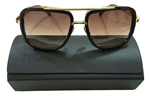 Dita - Gafas de sol - para hombre Negro dorado: Amazon.es ...