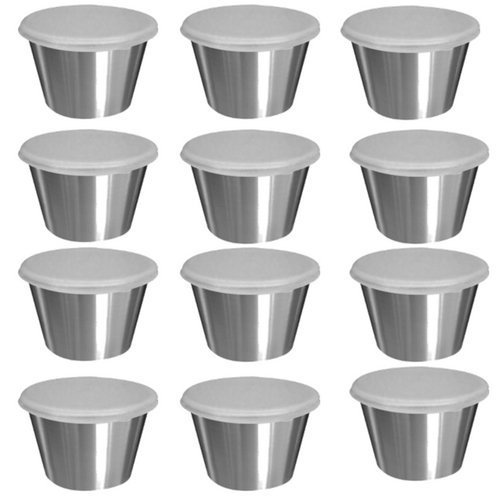 Tablecraft H5069 2.5 oz Dipping Cups with Lids (12 Pack)