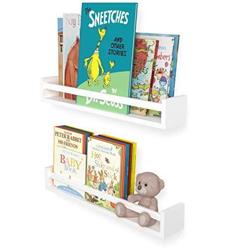 """Wallniture Utah 24"""" White Kids Bookshelf for Room"""