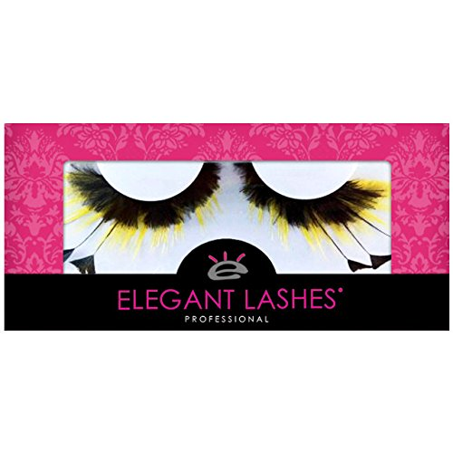 Bumble Bee Costume Eye Makeup (Elegant Lashes F481 Premium Feather False Eyelashes