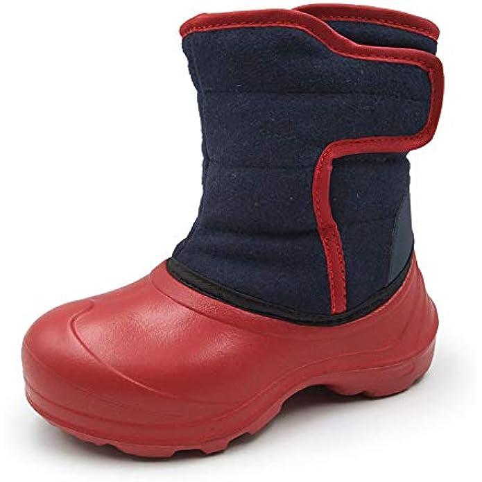 Amoji Boy Outdoor Winter Boots Girl Snow Shoes Waterproof for Little Kids/Big Kids