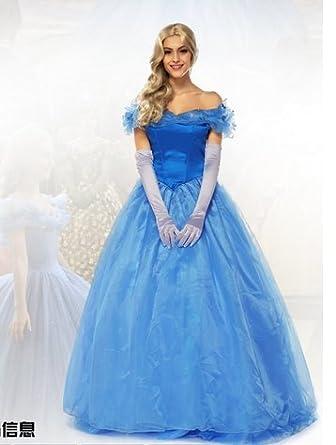 45f91bebaf062 シンデレラドレス 女性用 ディズニープリンセス ハロウィン Cinderella コスプレ衣装 シンデレラ 大人用 コスチューム コスプレ キャンギャル